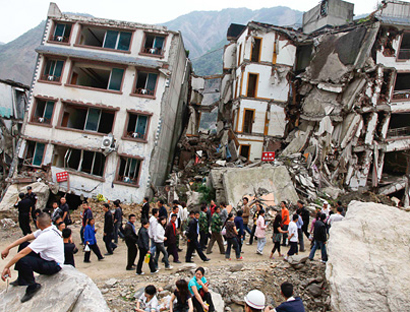 Photo: China quake death toll rises to 381 (UPDATE)