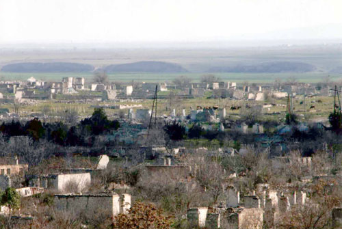 Photo: Armenian armed forces fired on Agdam civilians / Nagorno-karabakh conflict
