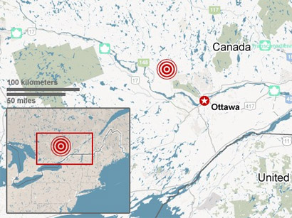 Photo: Quake reported in eastern Canada / Society