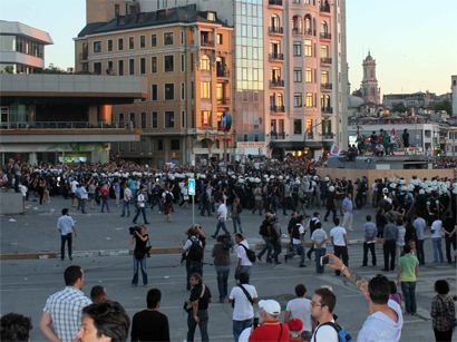 Photo: Taksim Square closed down