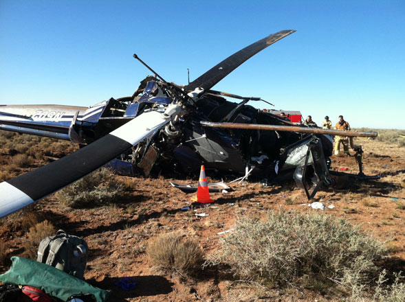 Photo: Investigation underway into US military helicopter crash in Britain / Other News