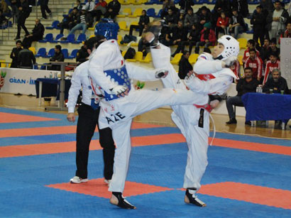 Photo: Azerbaijani taekwondo contestant wins gold medal at Youth Olympic Games