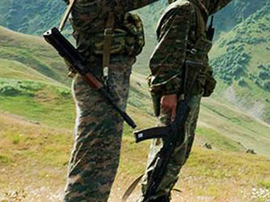 Photo: Azerbaijani soldier wounded following ceasefire violation by Armenian armed forces  / Nagorno-karabakh conflict