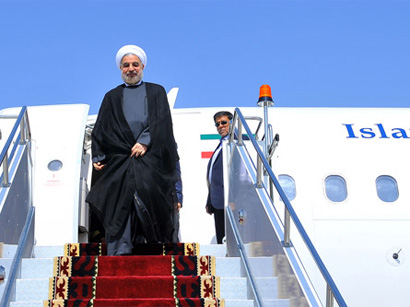Photo: Rouhani leaves Kabul for Tehran / Iran