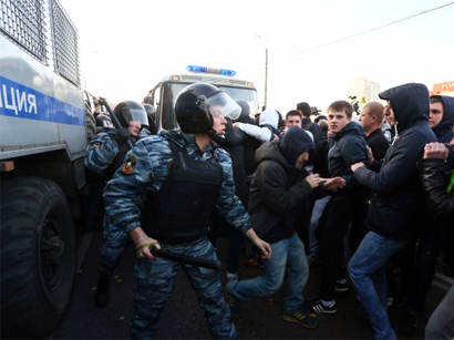 Photo: Over 1,600 migrants rounded up after ethnic riots in Moscow / Other News