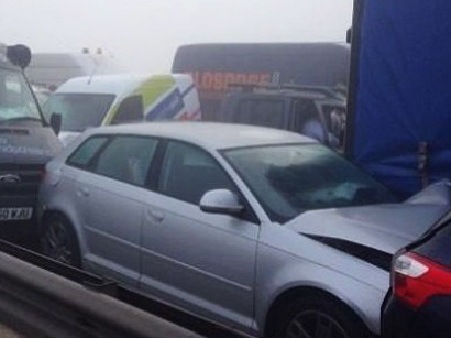 Photo: 17 cars collided due to poor visibility in Georgia / Georgia