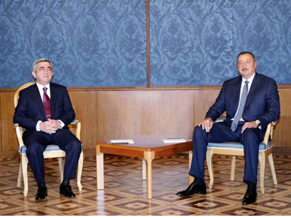 Photo: Azerbaijani, Armenian presidents to meet Aug.10 with participation of Russian president  / Nagorno-karabakh conflict
