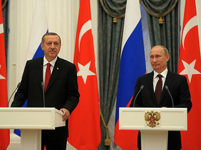 Photo: Putin, Erdogan discuss joint energy projects / Turkey