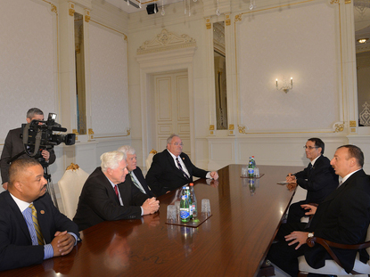 Photo: Azerbaijani President receives US congressmen / Politics