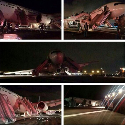 Photo: Chassis issues reason for Saudi plane emergency landing - Iran's Hajj and Pilgrimage Organization head / Iran