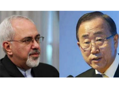 Photo: UN Secretary General, Iranian FM have phone conversation / Iran