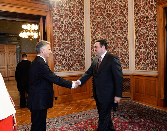 Photo: Azerbaijani ambassador meets with newly elected Swiss President  / Politics