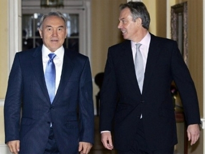 Photo: Kazakh president meets former British PM / Kazakhstan