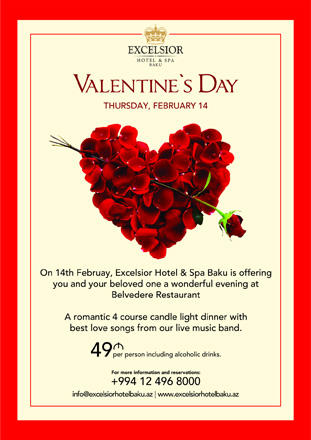 Photo: Excelsior Hotel Baku to host special program on St. Valentine's Day