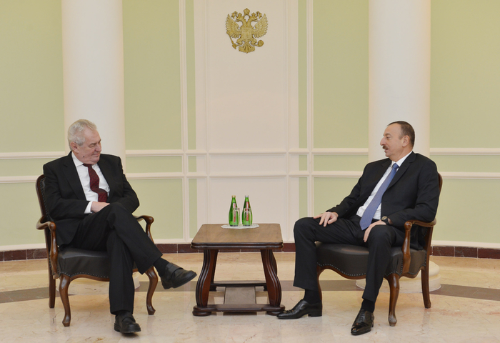 Photo: Azerbaijani president meets Czech Republic head in Sochi