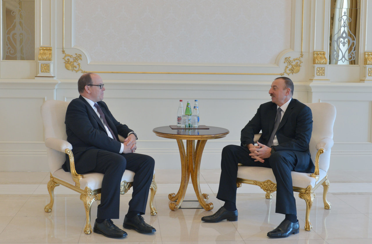 Photo: President Ilham Aliyev meets Prince Albert II of Monaco / Politics