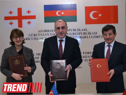 Photo: Azerbaijani, Georgian, Turkish FMs sign declaration on results of meeting in Ganja / Politics
