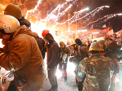 Photo: Ukraine: protesters and police clash on worst day of Kiev bloodshed / Politics