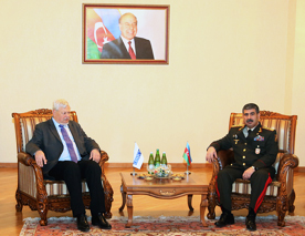 Photo: Azerbaijani Defence Minister and OSCE representative discuss border monitoring results  / Nagorno-karabakh conflict