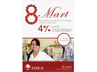 Photo: FINCA Azerbaijan starts special discount campaign for Azerbaijani Ladies / Economy news