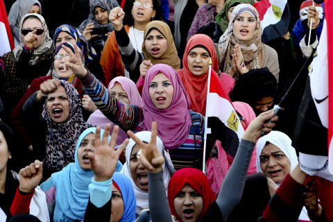 Photo: Women protesting in Egyptian airport leave country / Arab World