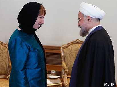 Photo: EU's Ashton, Iranian Rouhani meet in Tehran / Iran