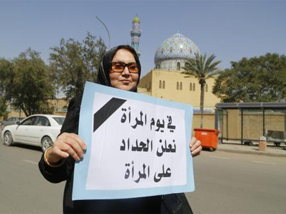 Photo: Iraqi women protest against proposed Islamic law in Iraq / Arab World