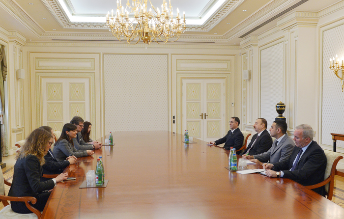 Photo: Azerbaijani president receives delegation from Italy's Friuli-Venezia Giulia region