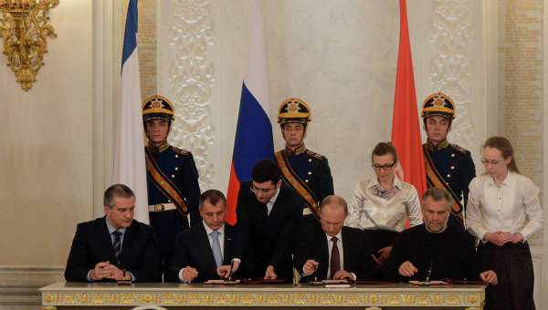 Photo: Russia, Crimea sign agreement on Crimea and Sevastopol joining Russia