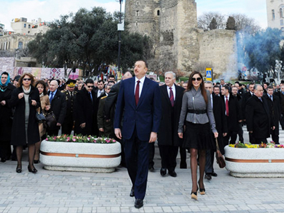 Photo: Azerbaijani president joins nationwide festivities on occasion of Novruz holiday / Politics