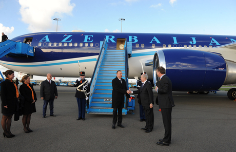Photo: Azerbaijan`s President arrives in Netherlands for working visit (PHOTO) / Politics