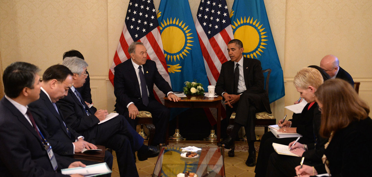Photo: Kazakh, U.S. presidents meet  / Kazakhstan