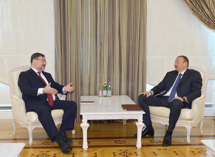 Photo: Azerbaijani president receives OSCE Project Co-ordinator in Baku / Politics