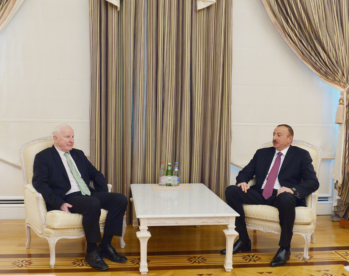 Photo: Azerbaijani President Ilham Aliyev receives president of European Olympic Committee