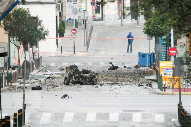 Photo: Car bomb explodes outside Greek central bank building, no one hurt / Other News