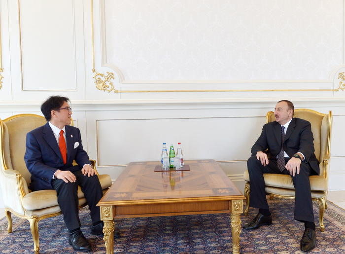 Photo: Azerbaijani president receives head of Olympic Office under Japan`s Cabinet of Ministers / Politics
