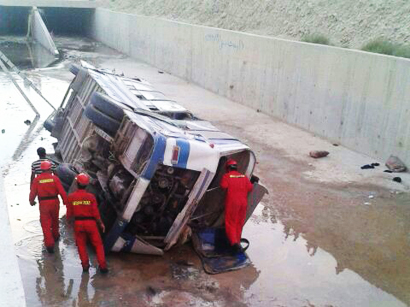 Photo: Bus falls into canal in Iran, injuries reported / Other News