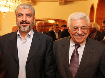 Photo: Abbas, Meshaal hold first talks since unity deal / Arab World