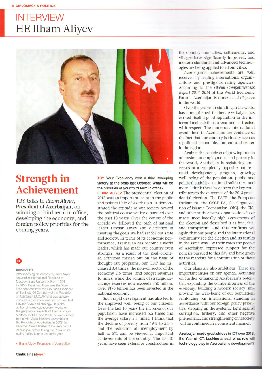 Photo: Ilham Aliyev: Azerbaijan's foreign policy underpinned by protection of national interests / Politics