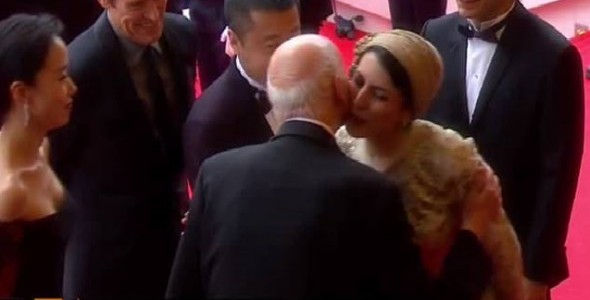 Photo: Iran criticizes actress Leila Hatami for kissing Cannes president  / Iran