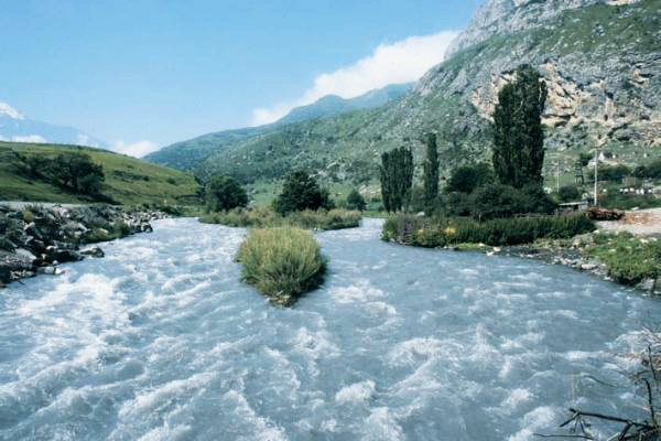 Photo: Terek River's course changed in Georgia
