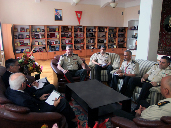 Photo: Azerbaijani military men meet with NATO/U.S. experts