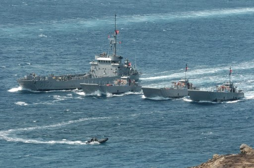 Photo: Incident occurs during Turkish navy exercises in Aegean Sea / Other News