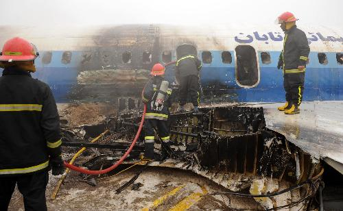 Photo: IRGC plane catches fire during emergency landing in Iran  / Iran