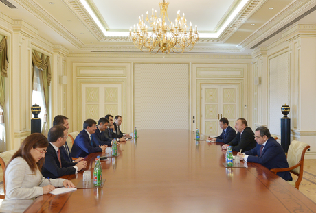 Photo: Azerbaijani president receives delegation led by Turkish FM / Politics