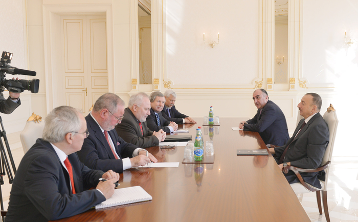 Photo: Azerbaijani president receives OSCE Minsk Group co-chairs