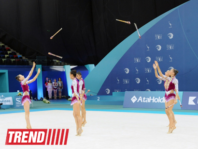 Photo: Azerbaijani gymnasts recapture lead in team competitions in European championship    