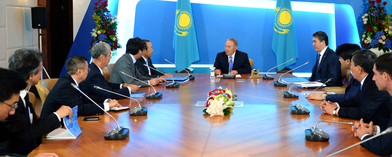 Photo: Kazakh president meets with chairman of board of Japan's Toyota Motor Corporation / Kazakhstan