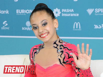 Photo: Azerbaijani gymnast shares experiences, says will continue to train hard for fans / Society