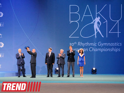 Photo: Baku hands over European Gymnastics Union's flag to Minsk (VIDEO)